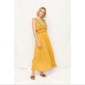 Mystree Dresses - Natchez - Sleeveless Maxi with Front Smock Waist